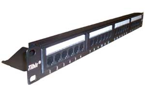 Patch Panel 24 Portas Cat.6 Com Guia Traseiro